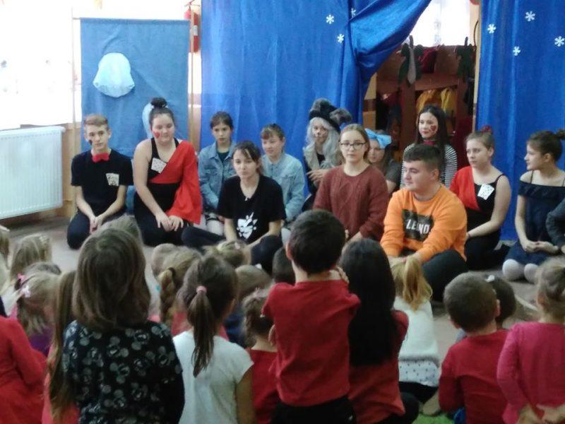 Grupa teatralna Wernisaż w naszym przedszkolu.